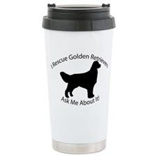I RESCUE Golden Retrievers Travel Mug