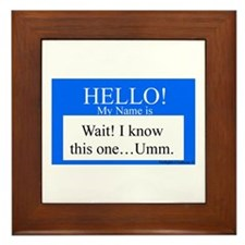 Wait! I Know This... Framed Tile