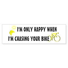 Chasing Your Bike Bumper Sticker