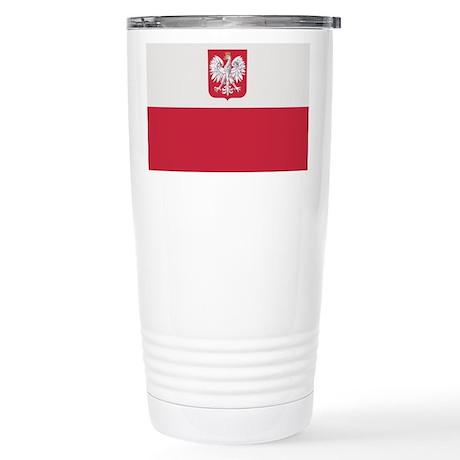 Flag of Poland Stainless Steel Travel Mug