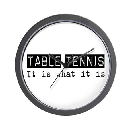 Table Tennis Is Wall Clock