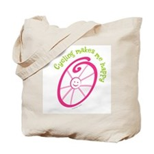 Happy Cycling Tote Bag