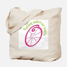 Happy Cycling Tote Bag