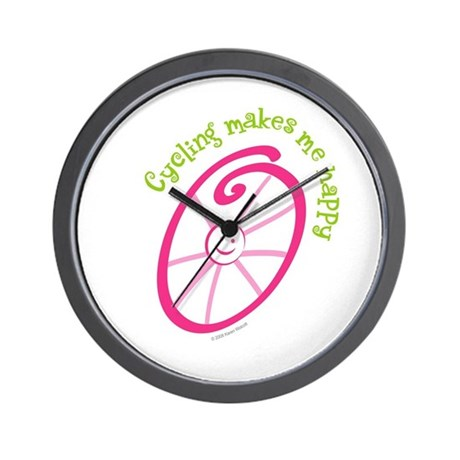 Happy Cycling Wall Clock