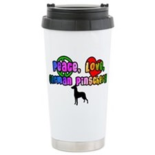 Hippie German Pinscher Travel Mug