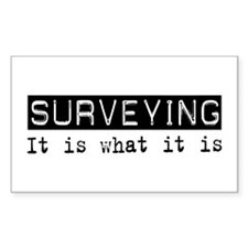 Surveying Is Rectangle Decal