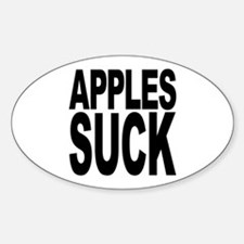 Apples Suck Oval Decal