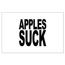 Apples Suck Large Poster