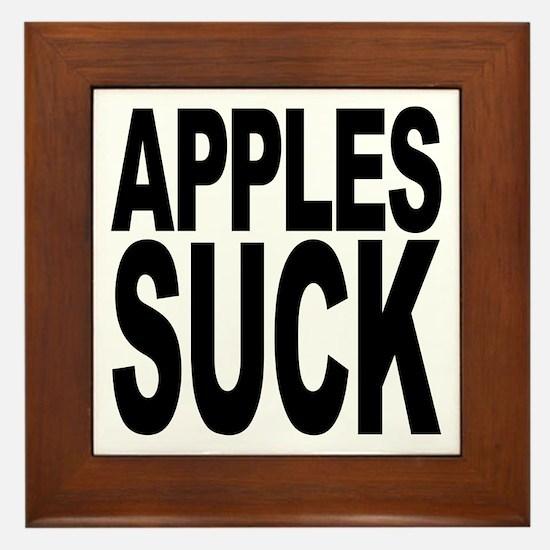 Apples Suck Framed Tile