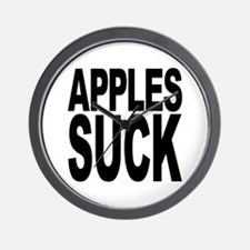 Apples Suck Wall Clock