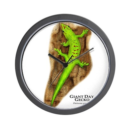 Giant Day Gecko Wall Clock