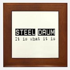 Steel Drum Is Framed Tile