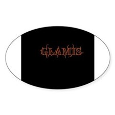 Glamis Imperial Sand Dunes Oval Bumper Stickers