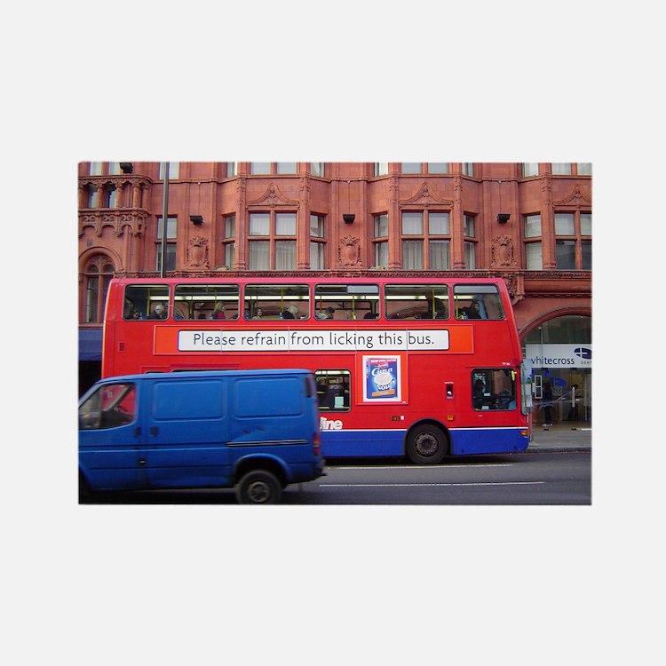 Cute London bus Rectangle Magnet