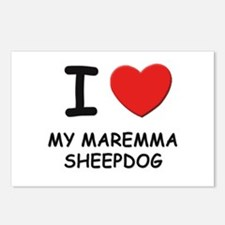 I love MY MAREMMA SHEEPDOG Postcards (Package of 8