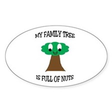Family Tree Oval Decal
