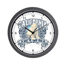 Polar Bear California Wall Clock