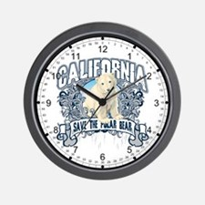 Polar Bear California Wall Clock