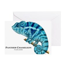Panther Chameleon Greeting Card