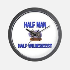Half Man Half Wildebeest Wall Clock