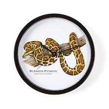 Burmese Python Wall Clock