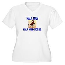 Half Man Half Wild Horse T-Shirt
