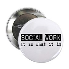 "Social Work Is 2.25"" Button"