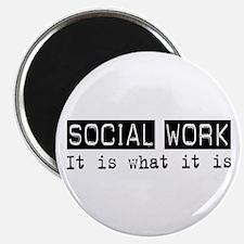 "Social Work Is 2.25"" Magnet (100 pack)"