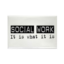 Social Work Is Rectangle Magnet