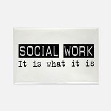 Social Work Is Rectangle Magnet (100 pack)