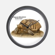 African Spurred Tortoise Wall Clock
