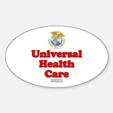 Universal Health Care Oval Decal