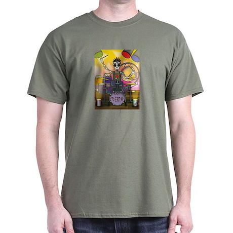 Day of the Dead Skeleton Drummer T-Shirt
