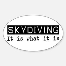 Skydiving Is Oval Decal