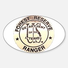 Forest Reserve Oval Decal