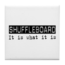 Shuffleboard Is Tile Coaster