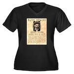 Emmett Dalton Women's Plus Size V-Neck Dark T-Shir