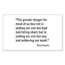 Michelangelo Greater Danger Quote Decal
