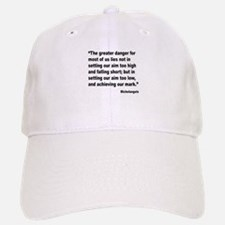 Michelangelo Greater Danger Quote Baseball Baseball Cap
