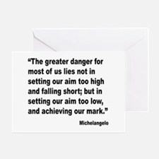 Michelangelo Greater Danger Quote Greeting Card