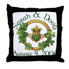 Sarah & Doug's Throw Pillow