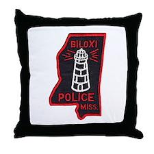 Biloxi Police Throw Pillow