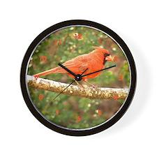 Elegant Cardinal Wall Clock