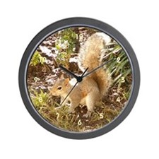 Squirrel Playing Wall Clock