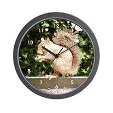 Squirrel Smiling Wall Clock