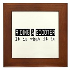 Riding a Scooter Is Framed Tile