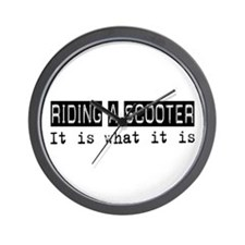 Riding a Scooter Is Wall Clock
