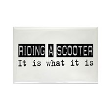 Riding a Scooter Is Rectangle Magnet