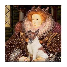 Queen/Fox Terrier (#S4) Tile Coaster