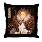 Queen/Fox Terrier (#S4) Throw Pillow
